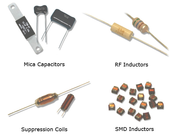 Mica Capacitors, Inductors, Suppression Coil